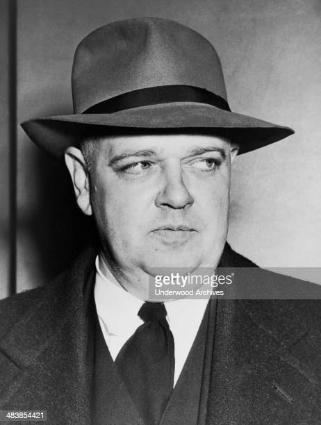A portrait of Whittaker Chambers writer editor former communist and a witness in the perjury trial of Alger Hiss 1948