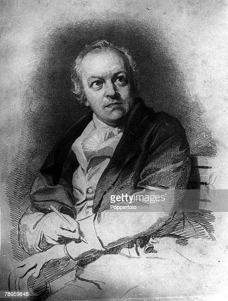 A portrait of William Blake the English poet artist engraver and mystic