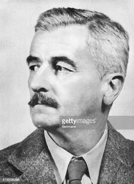 Portrait of William Faulkner , American author and Nobel Prize winner. Undated photograph.