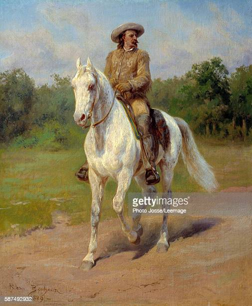 Portrait of William Frederick Cody nicknamed Buffalo Bill American soldier adventurer rider and showman Painting by Rosa Bonheur 1889 Buffalo Bill...