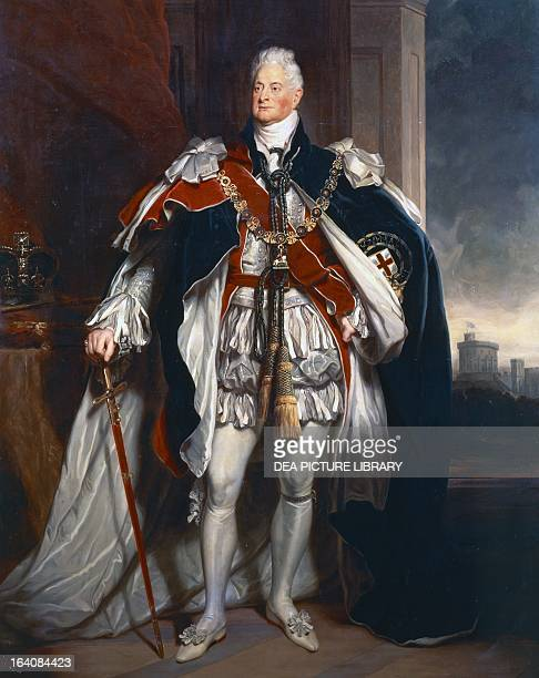 Portrait of William IV of the United Kingdom King of the United Kingdom of Great Britain and Ireland and of the State of Hanover Painting by George...