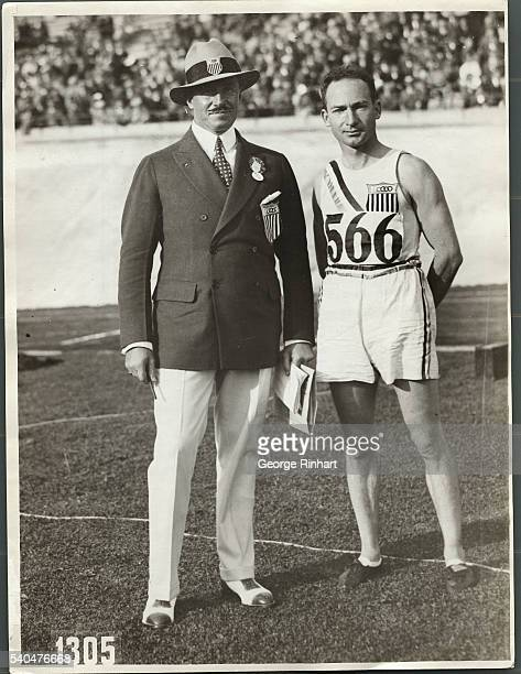 Portrait of William Kennelly and Jackson Scholz Standing in Olympic Stadium