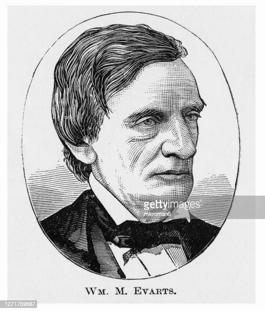 portrait of william maxwell evarts - governor stock pictures, royalty-free photos & images