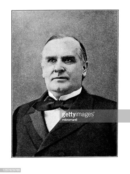 portrait of william mckinley, 25th president of the united states (1897 - 1901) - us president stock pictures, royalty-free photos & images
