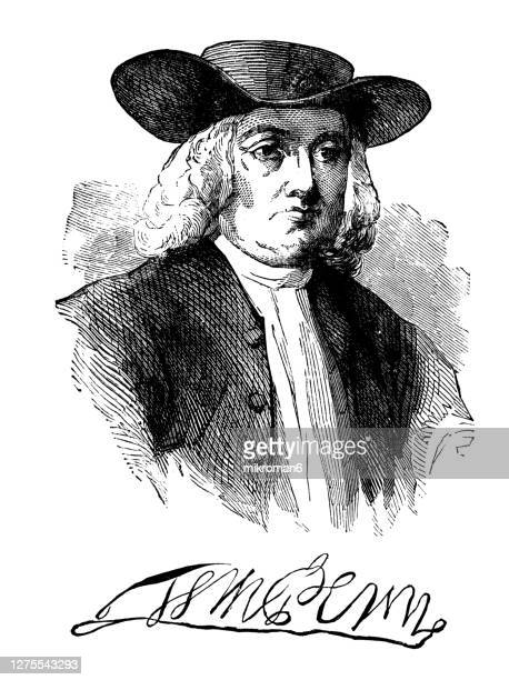 portrait of william penn the founder of the province of pennsylvania - harrisburg pennsylvania stock pictures, royalty-free photos & images