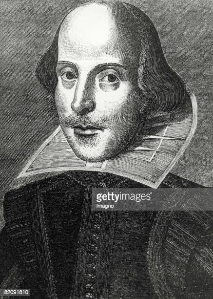 Portrait of William Shakespeare Print 1623 [Portrait von William Shakespeare Druckgraphik 1623]