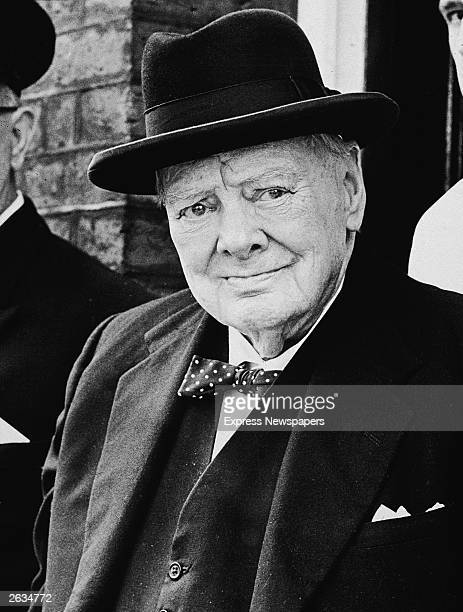 Portrait of Winston Churchill towards the end of his life England early 1960s