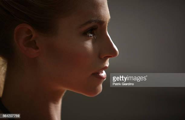 Portrait of woman athlete