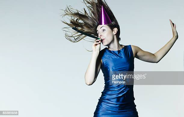 Portrait of woman celebrating
