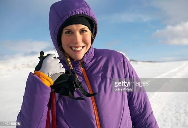 Portrait of woman cross-country skier