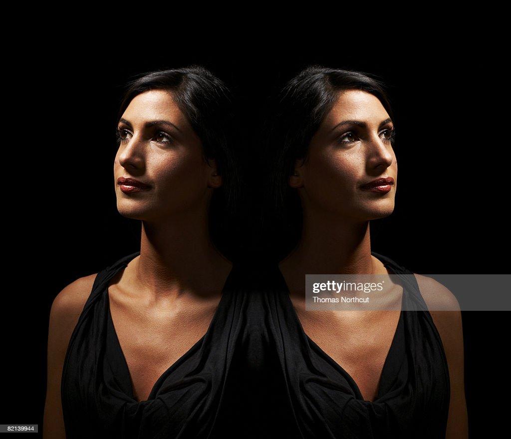 Portrait of Woman, Digital Composite : Stock Photo