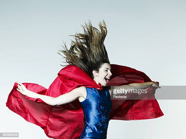 Portrait of woman dressed as a superhero
