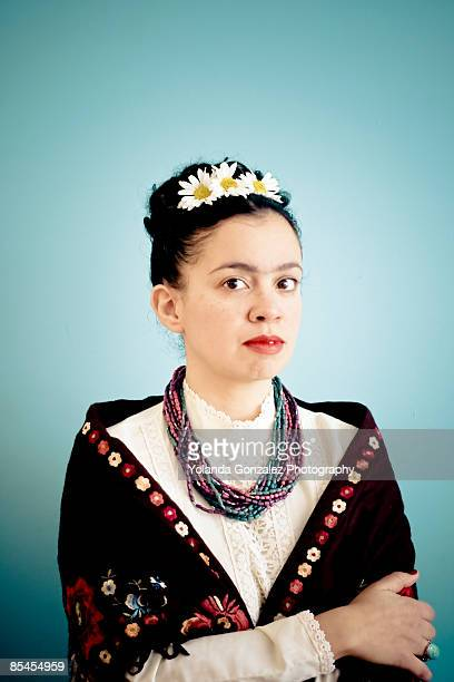 Portrait of woman dressed in a traditional costume