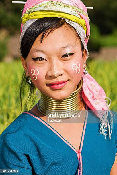 Portrait of woman from Long Neck Karen Tribe
