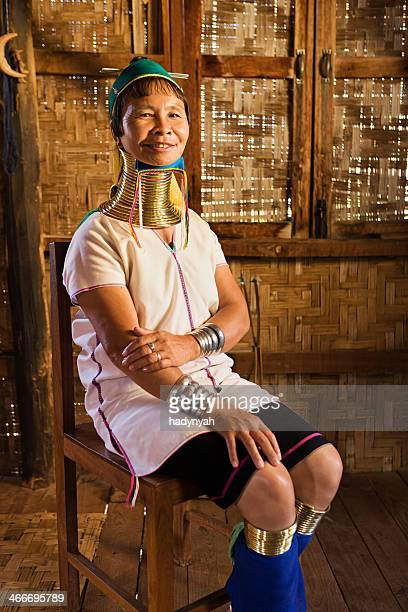 Portrait of woman from Long Neck Padaung Tribe, Myanmar