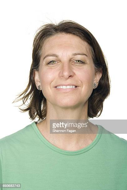 portrait of woman happy and content - green eyes stock pictures, royalty-free photos & images
