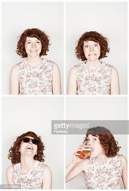 Portrait of woman having fun