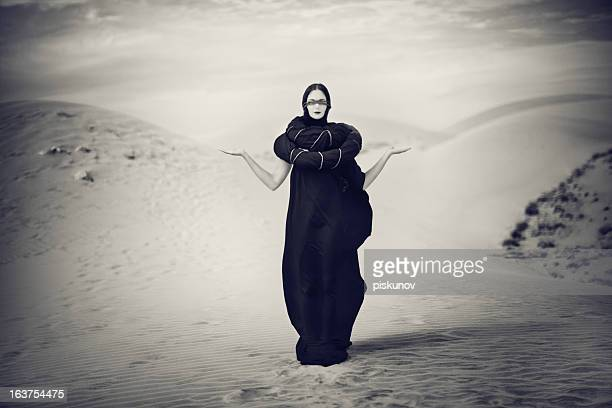 Portrait of Woman in Desert