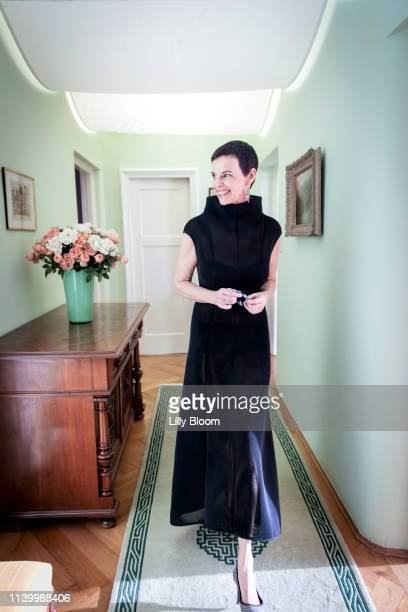 portrait of woman in evening gown - evening gown stock pictures, royalty-free photos & images