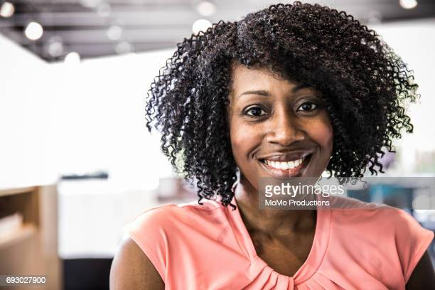 Portrait of woman in modern business office