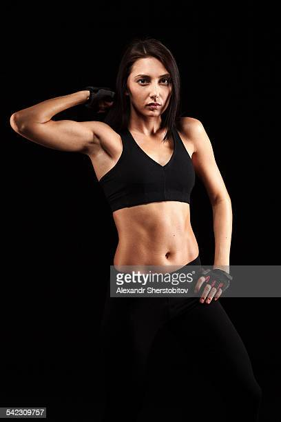 Portrait of  woman in sport-bra