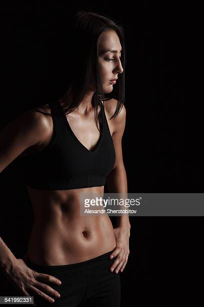 Portrait of woman in sports-bra