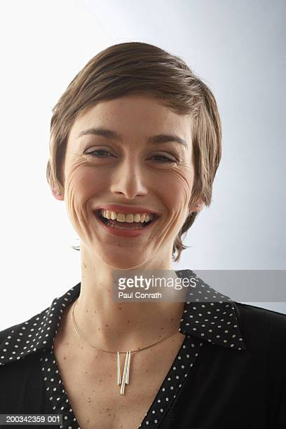 Portrait of woman, laughing