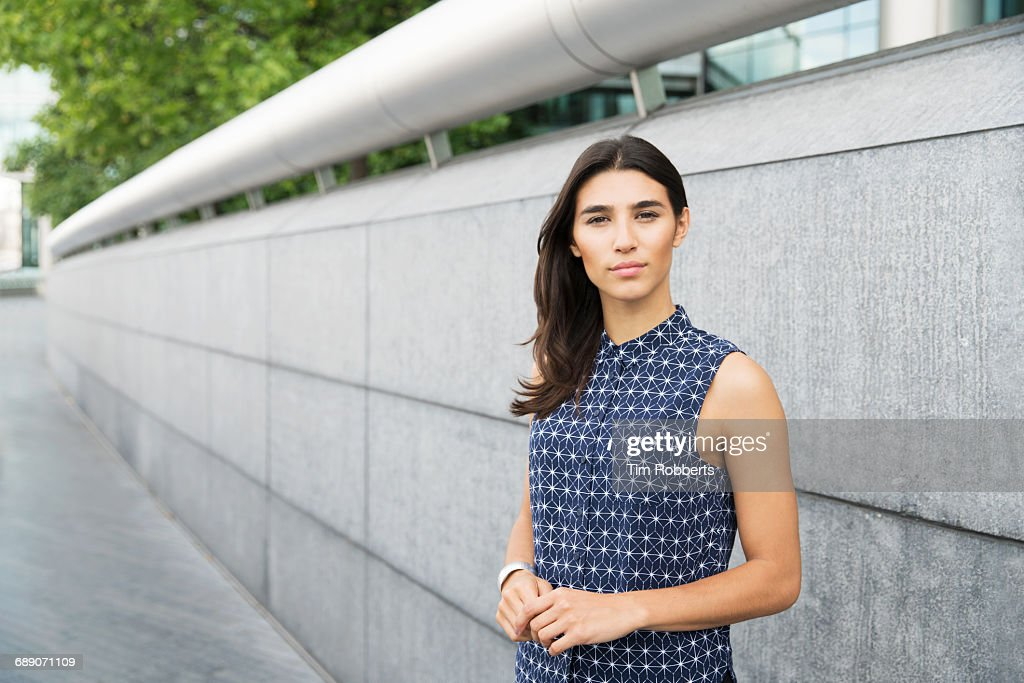 Portrait of woman looking at camera : Stock Photo