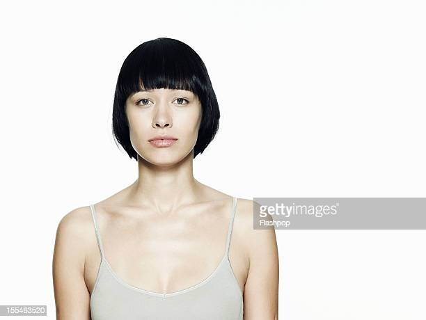 portrait of woman - bobbed hair stock pictures, royalty-free photos & images