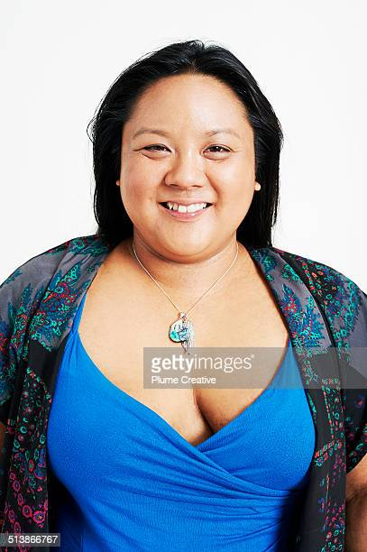 portrait of woman - fat asian woman stock pictures, royalty-free photos & images