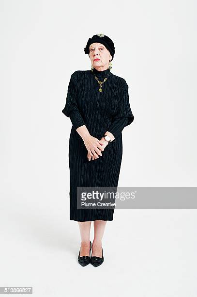 portrait of woman - stereotypically upper class stock pictures, royalty-free photos & images