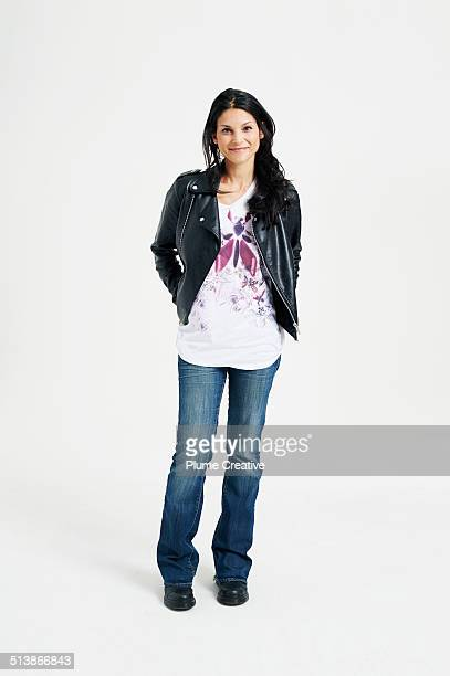 portrait of woman - trousers stock pictures, royalty-free photos & images