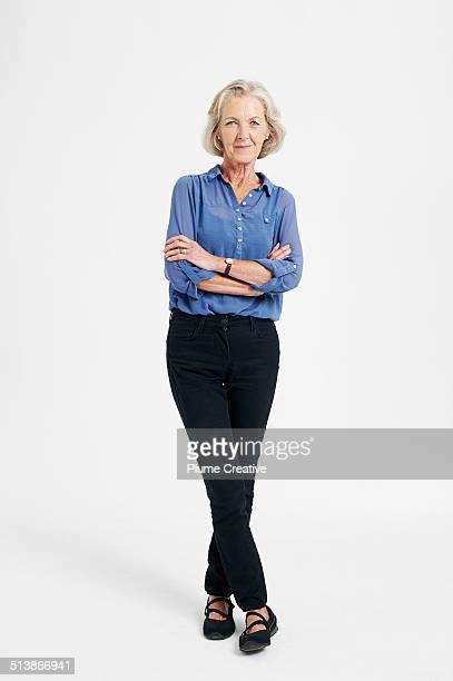 portrait of woman - white pants stock pictures, royalty-free photos & images