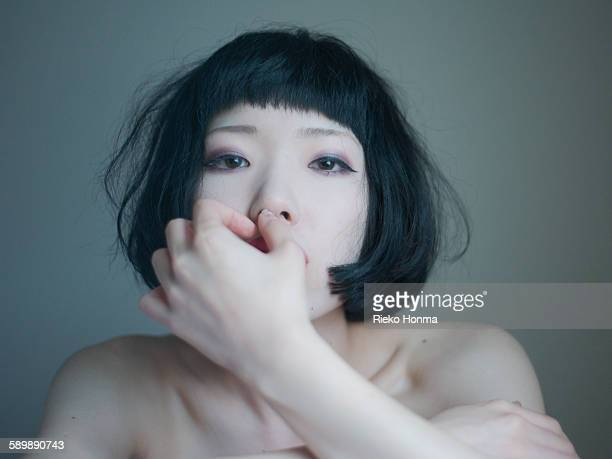 portrait of woman - セミヌード ストックフォトと画像
