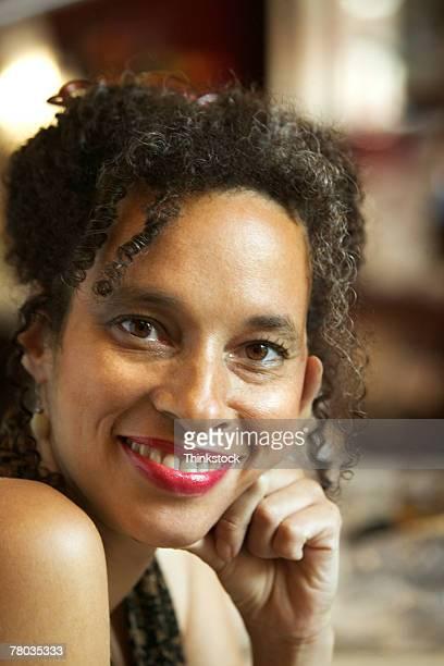 portrait of woman - thinkstock stock-fotos und bilder