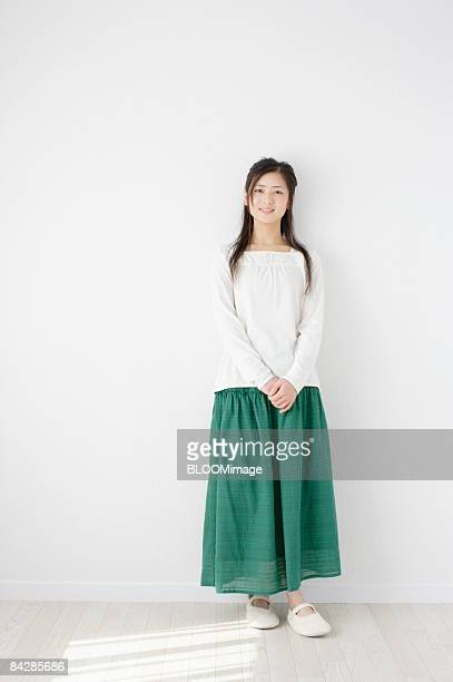 portrait of woman - skirt stock pictures, royalty-free photos & images