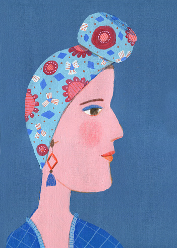 portrait of woman profile - gettyimageskorea