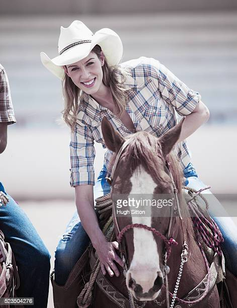 portrait of woman riding horse - hugh sitton stock pictures, royalty-free photos & images