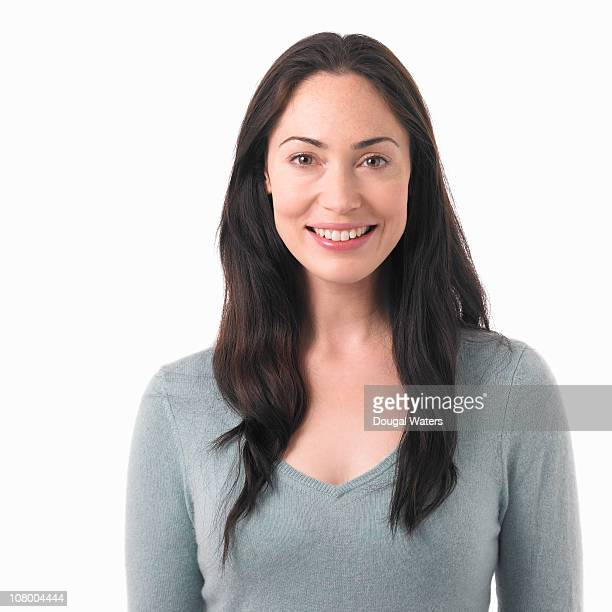 Portrait of woman smiling.