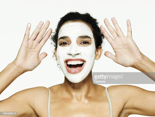 Portrait of woman wearing face mask