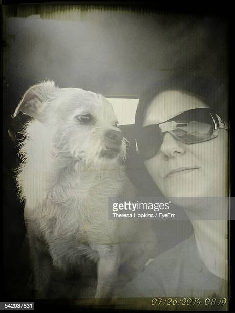 Portrait Of Woman With Dog