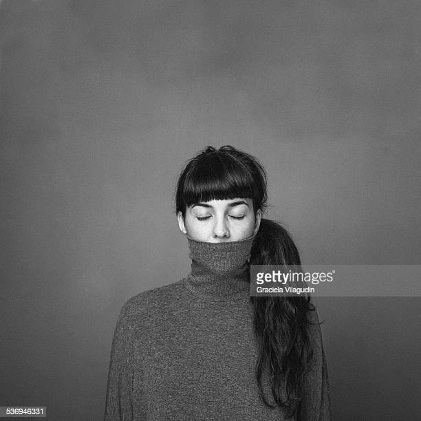 Portrait of woman with jumper