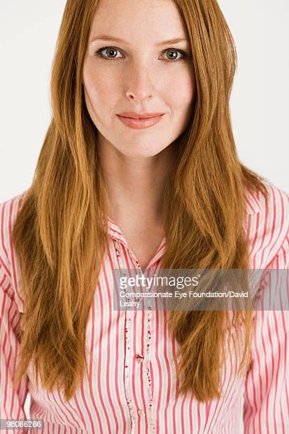 "portrait of woman with long hair - ""compassionate eye"" fotografías e imágenes de stock"