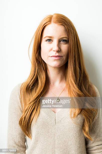 portrait of woman with long red hair - straight hair stock pictures, royalty-free photos & images