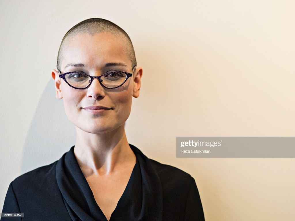 From head picture shaved woman