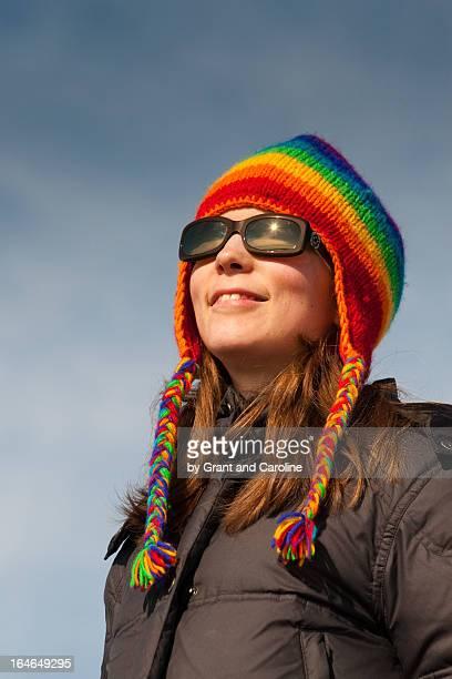 portrait of woman with sunglasses - caroline roux photos photos et images de collection