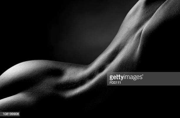 ritratto di donna di schiena, bianco e nero - donna schiena nuda foto e immagini stock