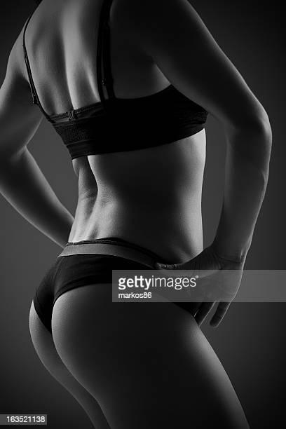 Portrait de Femme de dos, noir et blanc