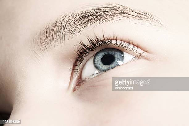 portrait of woman's blue eye - adults only stock pictures, royalty-free photos & images