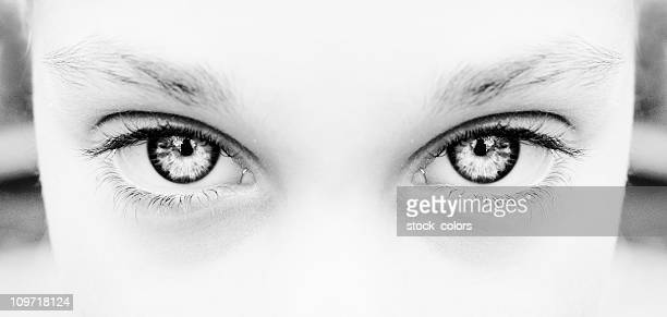 Portrait of Woman's Eyes, Black and WHite